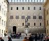 Piazza Salimbeni, Siena, 17 April 2015 1.  The statue commemorates economist Sallustio Bandini (1677 - 1760).