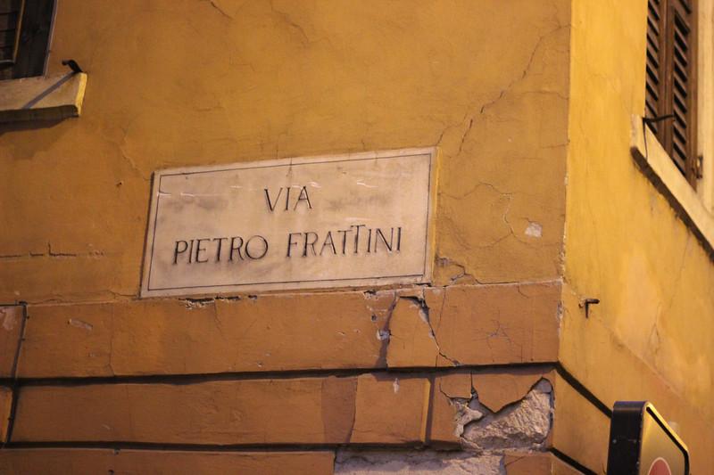 Italy, Verona, Street Sign