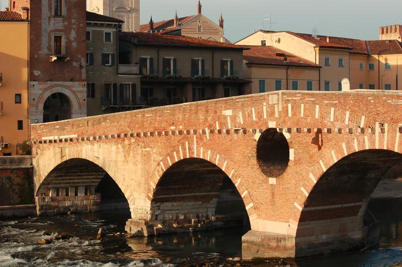 Italy, Verona, Ponte Pietra Bridge