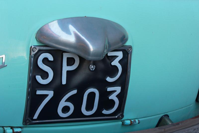 Italy, Verona, Number Plate Fiat Nuova 500