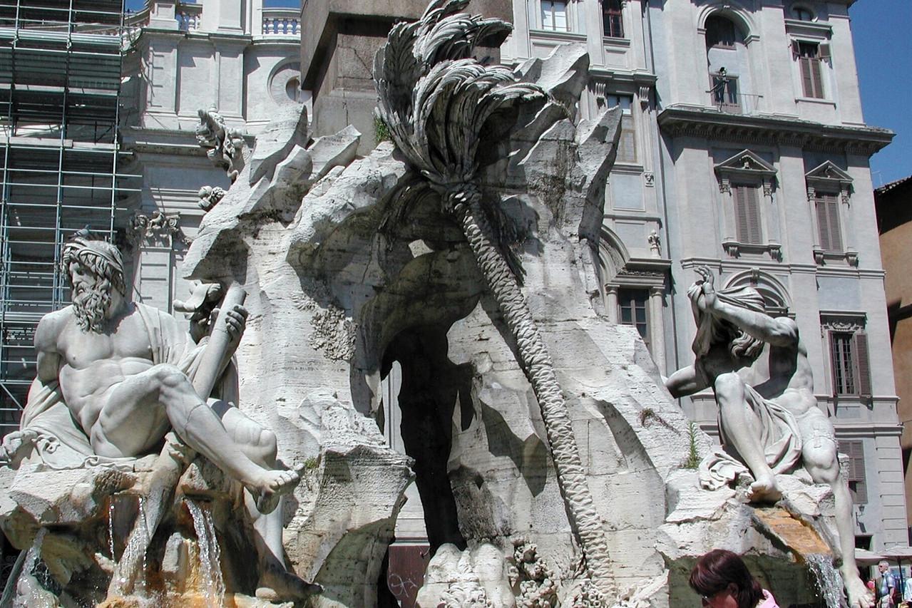 Fontana dei Fiumi by Bernini, Piazza Navona, Rome / Karen Perrin Photo