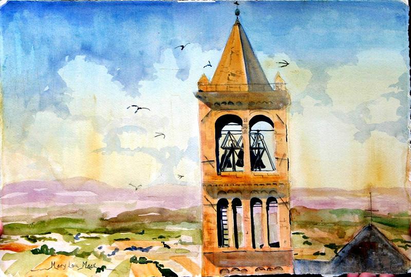 "Santa Chiara- Assisi, Italy 15"" x 22"" Price: $300. Unframed"