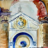 """Pienza Church Facade, Tuscany, Italy 11"""" x 15"""" Price: $150. Unframed"""