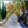 """Pienza Ramparts - Tuscany, Italy 15"""" x 22"""" Price: $500. Framed"""