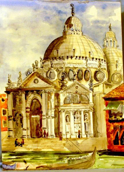 """Sainte Maria delle Salute - Venice, Italy 22"""" x 30"""" Price: $300. Unframed"""