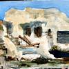 """Fisherman's Hut - California Bay, Italy 11""""x 15"""" Price: $350. Framed"""