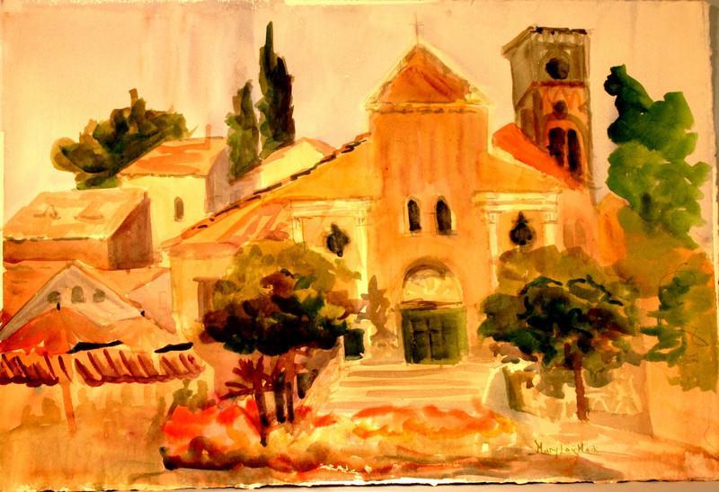 Village Church At Ravello, Italy
