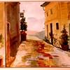 "Pienca Walkway - Tuscany, Italy 15"" x 22"" Price: $ 500. Framed"