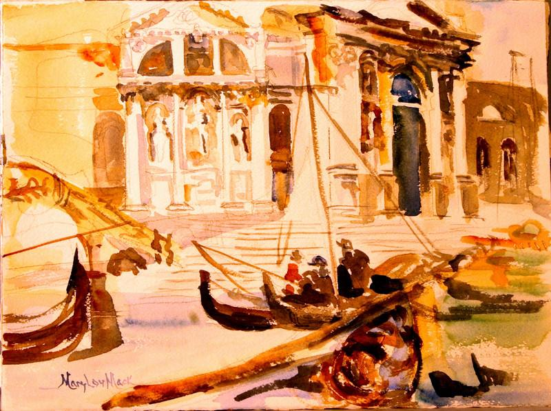 """Santa Marie delle Salute- Venice, Italy ( Sargeant Style) 11"""" x 15"""" Price: $ 150. Unframed"""