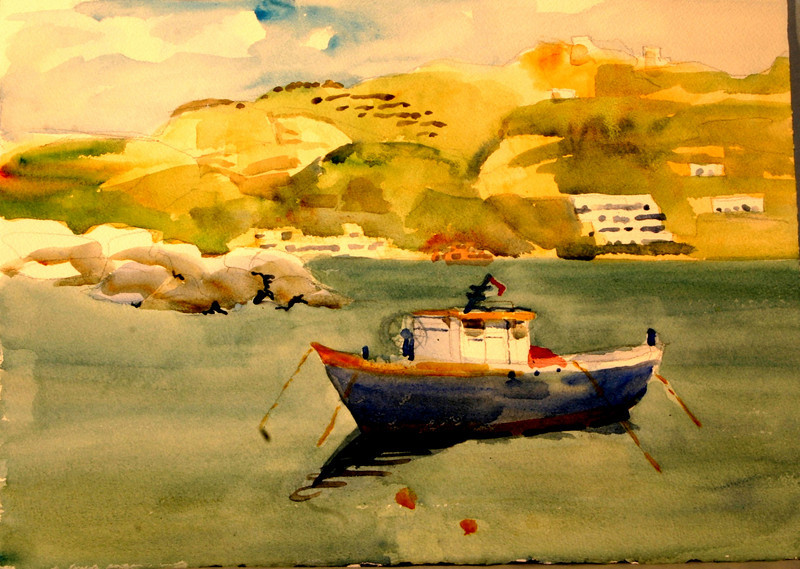 """Ishia Afternoon Anchorage 11"""" x 15"""" Price: $175. Unframed"""