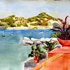 "h€otel Conte Balcony View - Isle D' Ischia 15"" x 22"" Price: $350. Unframed"
