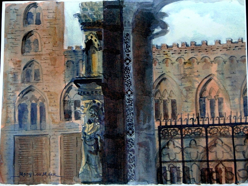 """Main Piazza In Sienna, Italy 11"""" x 15"""" Sold Prints available"""