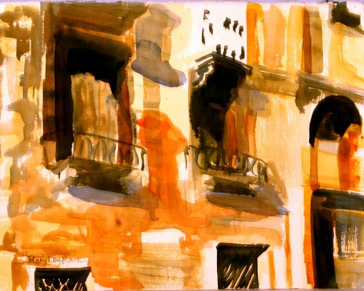 Balconies Along The Grand Canal - Venice, Italy