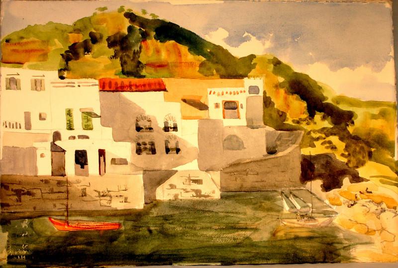 "Ischain View Saint Angelo, Italy 15"" x 22"" Price: $350. Unframed"