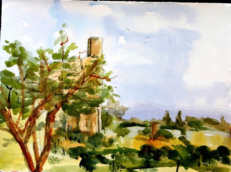 "Toscania, Italy 11"" x 15"" Price: $125. Unframed"