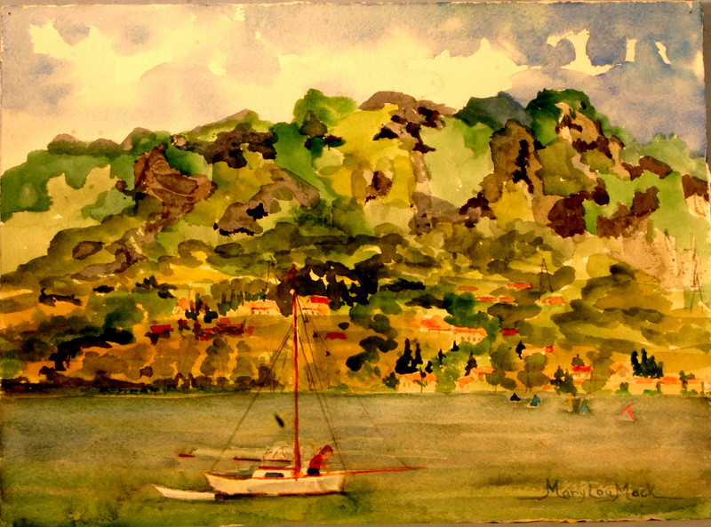 "Lago Idro View , Italy 11"" x 15"" Price: $125. Unframed"