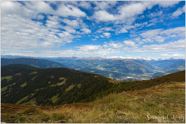View from up here, at the Kronplatz, South Tyrol, Italy