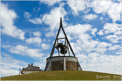 """The """"Concordia 2000"""" peace bell. A beautiful bronze bell on the mountain of Bruneck."""