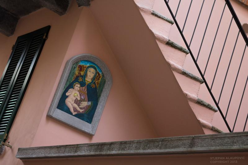 Virgin Mary Painting in Bellagio