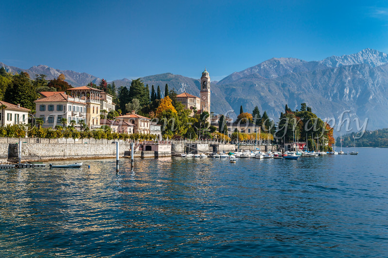 The Lake Como village of Tremezzo, Lombardy, Italy, Europe.