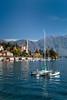 The Lake Como village of Tremezzo, Lombardy, Italy, Europe.