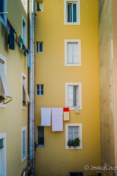 Yellow Building and Laundry