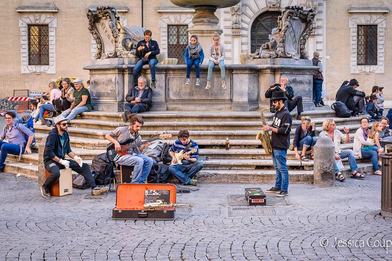 Musicians in Piazza Santa Maria in Trastevere