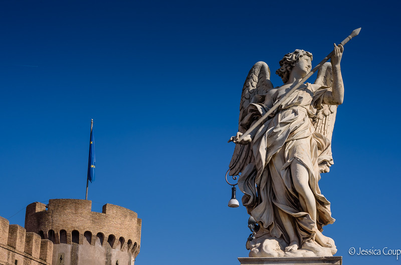 Statue by Castel Sant'Angelo