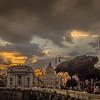 St. Peter's Basilica at Sunset