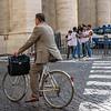 Polished Business Men on a Rusty Bike