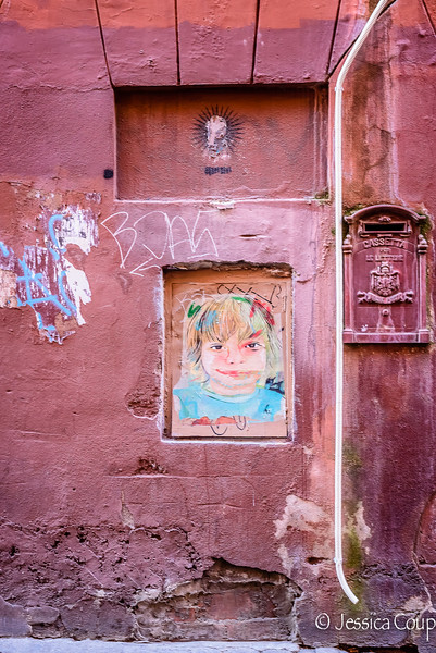 Girl on the Pink Wall