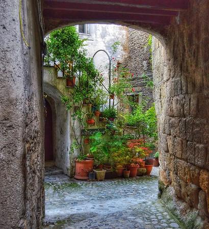 """""""Stepping into Green"""" - Calcata - Italia"""