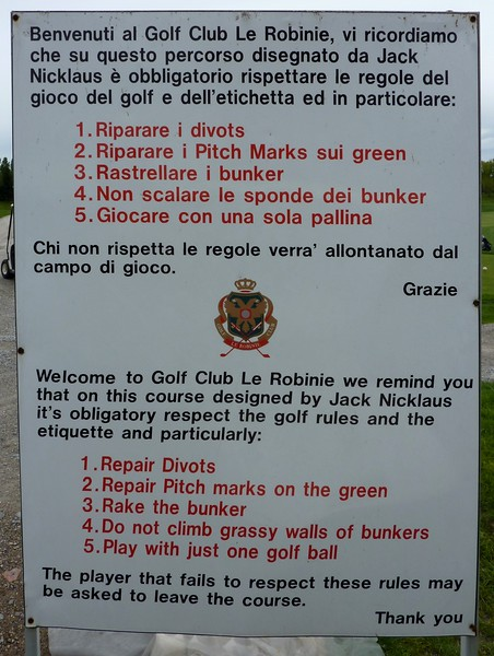 Golf Club Le Robinie, in Lombardy, Italy.