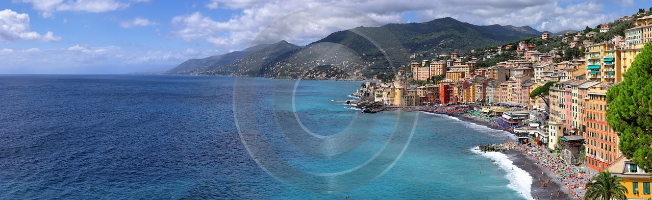 Camogli Beach Town Ocean Houses Royalty Free Stock Images Fine Art Fotografie Art Prints For Sale - 002084 - 17-08-2007 - 13713x4203 Pixel