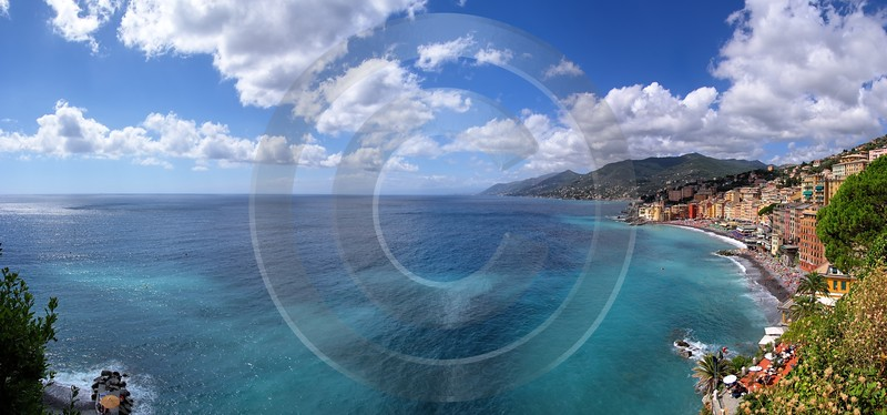 Camogli Beach Town Ocean Houses Stock Pictures Fine Art Landscape What Is Fine Art Photography - 002086 - 17-08-2007 - 8715x4078 Pixel
