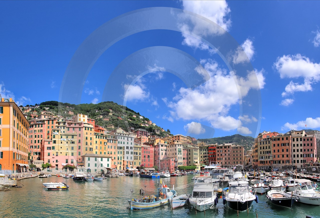 Camogli Port Boat Ship Houses Fine Art Landscape Photography Fine Art Landscape Winter - 002102 - 17-08-2007 - 6813x4631 Pixel