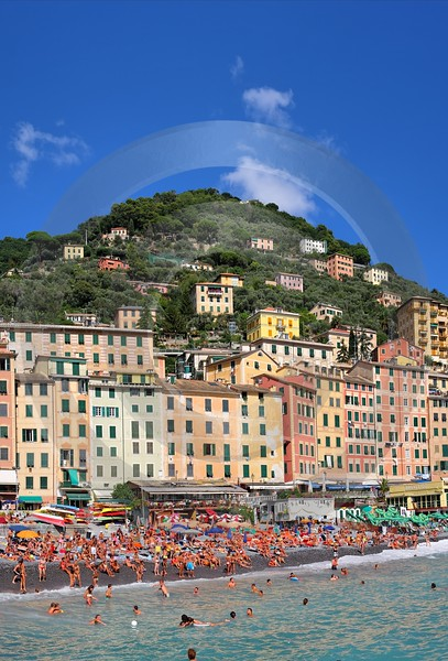 Camogli Beach Town Ocean Houses Prints For Sale Fine Art Nature Photography Photo - 002113 - 17-08-2007 - 4270x6293 Pixel
