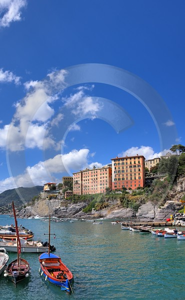 Camogli Port Boat Ship Houses Forest Photography Prints For Sale Fine Art Photography Prints - 002098 - 17-08-2007 - 4321x7006 Pixel