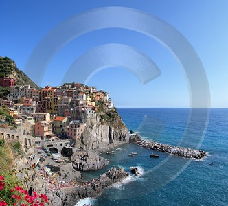 Manarola Cinque Terre Ocean Town Viewpoint Cliff Port Sky Tree Fine Art Pictures Forest Senic - 002170 - 18-08-2007 - 4612x4173 Pixel