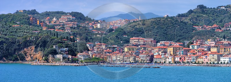 Lerici San Terenzo Port Ocean Viewpoint Castle Art Prints Fine Art Modern Wall Art View Point - 002195 - 19-08-2007 - 11831x4212 Pixel