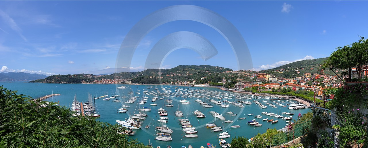 Lerici Port Boat Ship Yacht Ocean Viewpoint Castle Fine Art Giclee Printing River Fine Art Prints - 002192 - 19-08-2007 - 10457x4206 Pixel