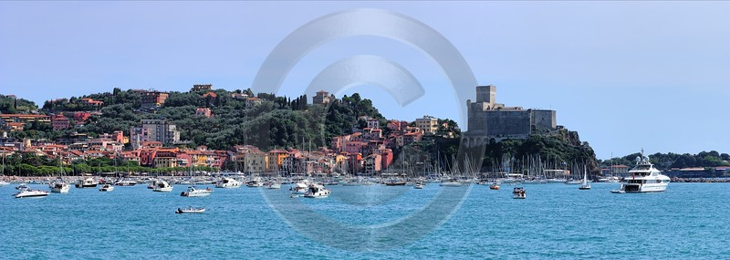 Lerici San Terenzo Port Boat Ship Yacht Ocean Art Prints For Sale Winter - 002211 - 19-08-2007 - 12112x4322 Pixel