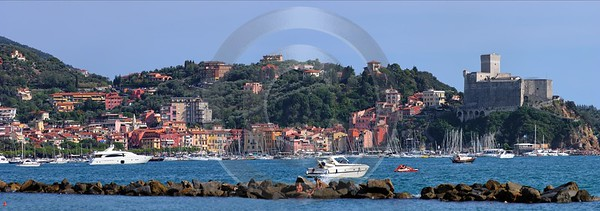 Lerici Port Boat Ship Yacht Ocean Viewpoint Castle Fine Art Printing Fine Arts Country Road - 002227 - 19-08-2007 - 11795x4146 Pixel