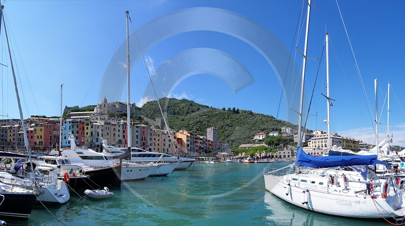 Portovenere Liguria Port Yacht Boat Ship Houses Ocean Stock Images Outlook Forest Rain Ice Mountain - 002303 - 23-08-2007 - 7811x4366 Pixel