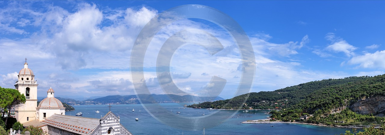 Portovenere Liguria Port Yacht Boat Ship Houses Ocean Beach Modern Art Prints Fine Art Winter Color - 002300 - 23-08-2007 - 12058x4227 Pixel