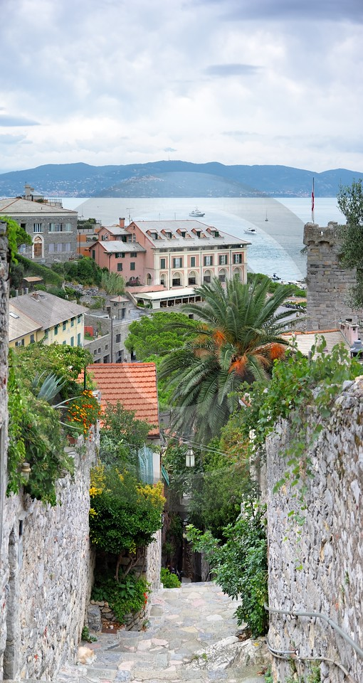 Portovenere Liguria Port Houses Ocean Town Village Lane Grass Fine Art Printer Hi Resolution Rain - 002289 - 23-08-2007 - 4235x7976 Pixel