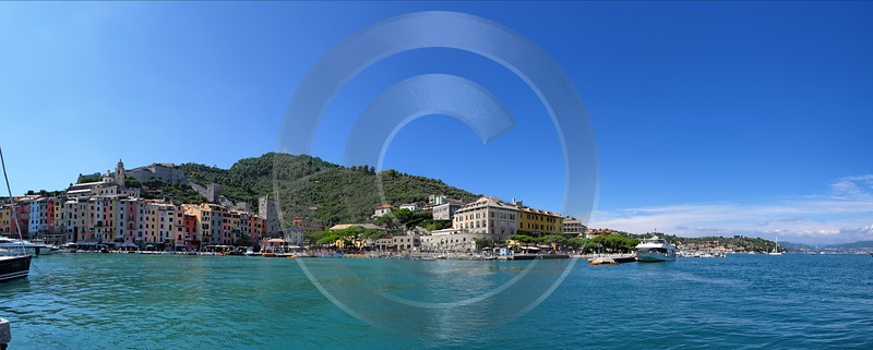 Portovenere Liguria Port Yacht Boat Ship Houses Ocean Grass Sky Winter - 002306 - 23-08-2007 - 10765x4318 Pixel