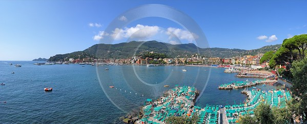 Santa Margherita Ligure Port Beach Ocean Golfo Del Fine Art Photographer - 002189 - 19-08-2007 - 10418x4204 Pixel