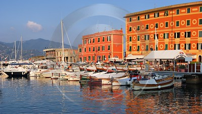 Santa Margherita Ligure Port Snow Hi Resolution Sunshine Royalty Free Stock Images - 002009 - 15-08-2007 - 7337x4139 Pixel