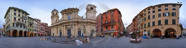 Santa Margherita Ligure Old Town Piazza Place Houses Photo Fine Art Spring Stock - 016627 - 19-08-2007 - 21270x5541 Pixel